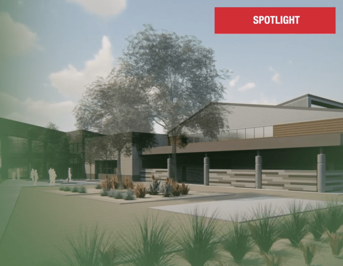 New middle school 3d elevation is shown