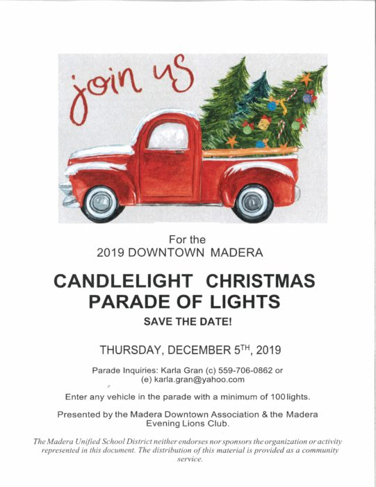 Candlelight Christmas Tractor Parade Madera 2020 Downtown Candlelight Christmas Parade   City of Madera