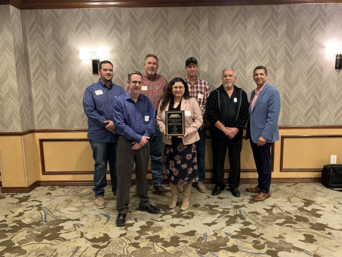 City of Madera Transit Center Project team show off their award plaque at APWA awards luncheon